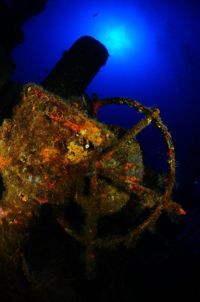 submarinismo en platja d'aro Detalle del pecio Boreas