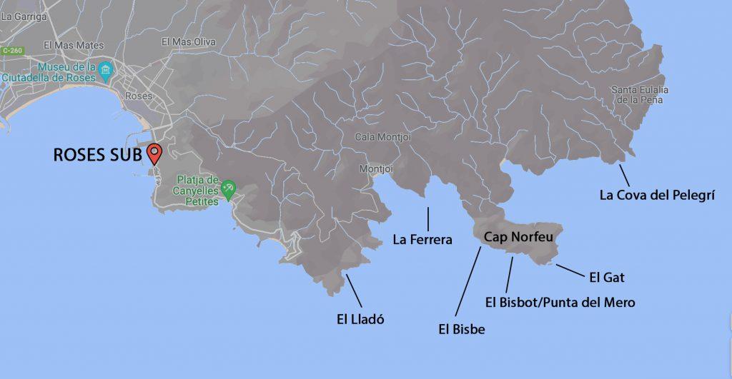 mapa mejores inmersiones roses